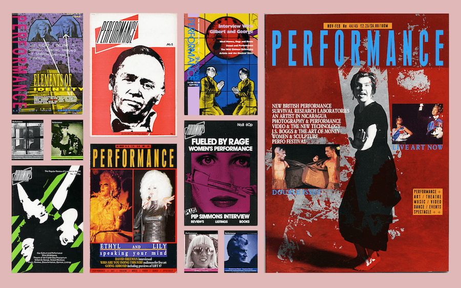 Collage of various Performance Magazine covers