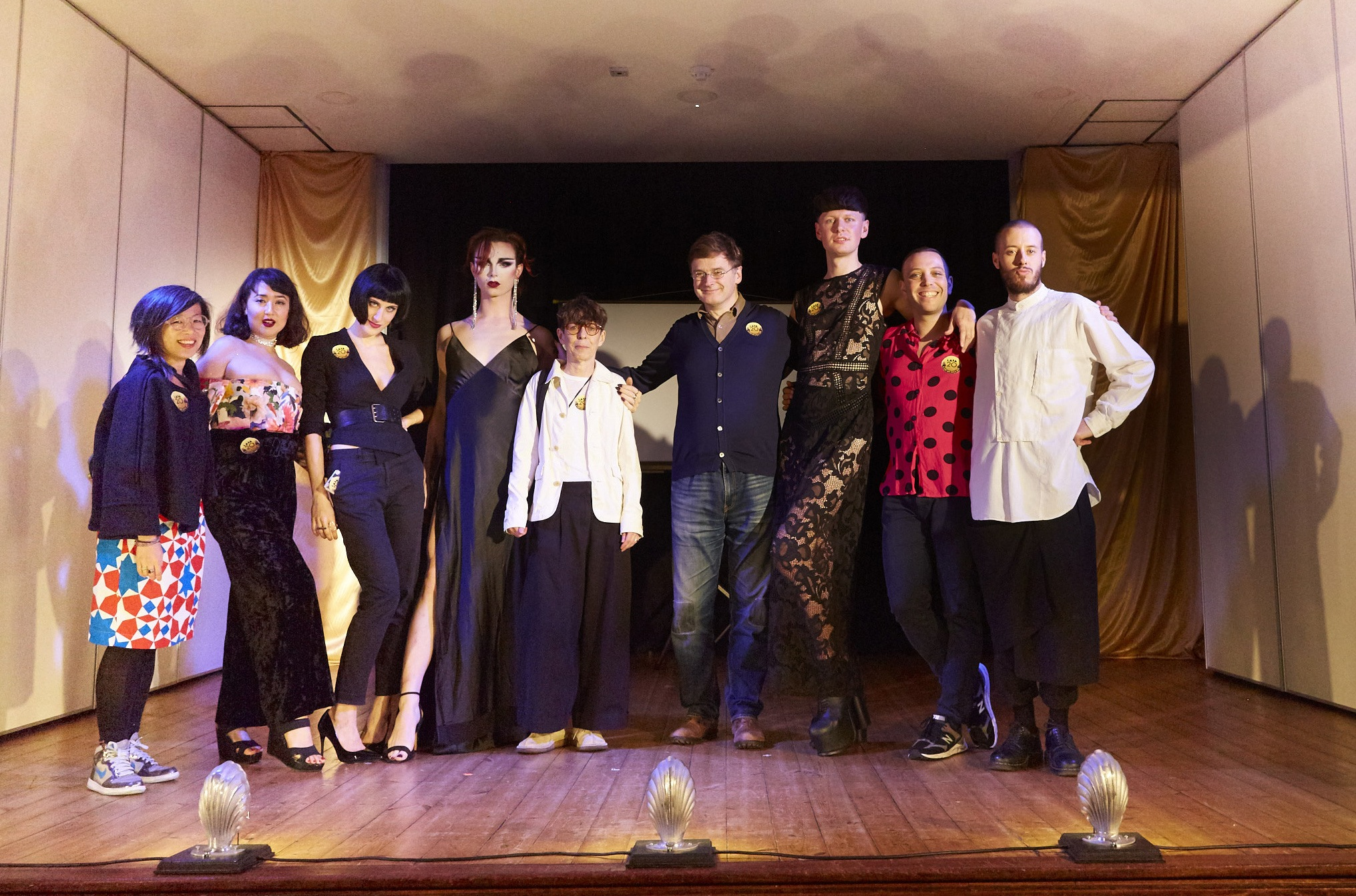 LADA's staff pictured onstage at the 20th Anniversary Gala