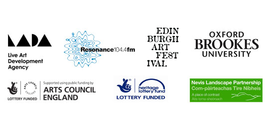 lada logo, ace logo, resonance fm logo, heritage lottery logo, oxford brookes univeristy logo, nevia landscape partnership logo, edinburgh art festival logo