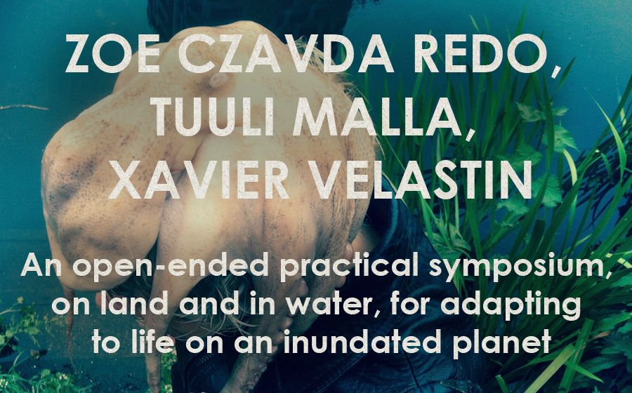Zoe Czavda Redo, Tuuli Malla, Xavier Velastin: Water Bodies - An open-ended practical symposium, on land and in water, for adapting to life on an inundated planet